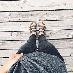 🆕 Listing! Worn three strap leather Birks